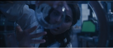 "Vanessa Patel as Mira in the lab created by Yihong Ding in ""Mira"""
