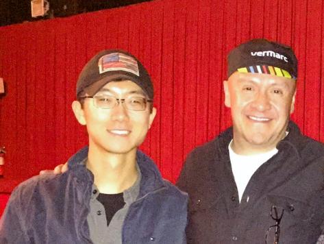 Xiao Hou with Martin Hernandez