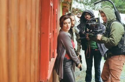 DESTERRO, 2016. Mayanna Neiva (lead actress, star), Chico Caprario (actor), Dhruv Lapsia (1stAC) and me