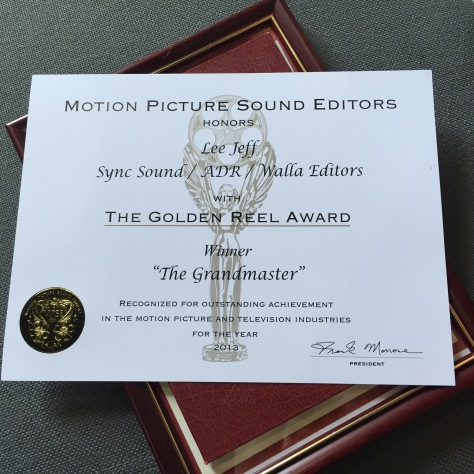 The Grandmaster -MPSE best sound editing