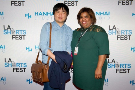 NIB at LA Shorts Fest with producer Felecia Hunter