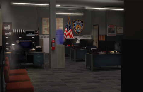 DAMIEN (2016) NYPD Police Station Graphic Art by Vinita Bakhale Property of FOX 21 Studios