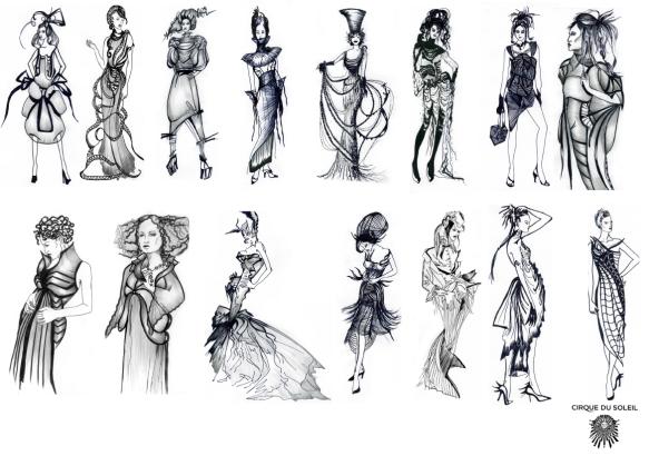 Viktoriia Vlasenko's designs for Cirque Du Soleil